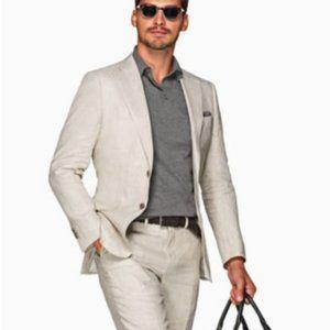 Calvin Klein Stone Gray 100% Linen  Blazer 46L